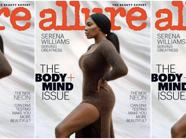 "Profil i mod: Serena Williams täcker Allures ""Body & Mind"" -problem"