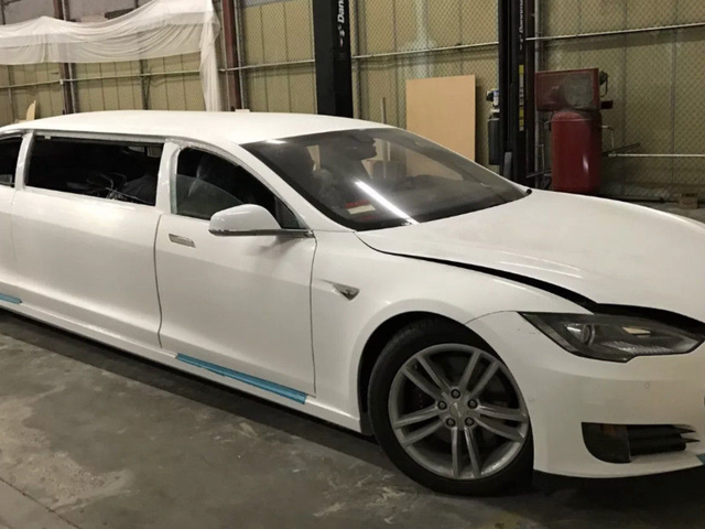 There's A Tesla Model S Limo On eBay That's Currently Going For Less Than An Actual Model S