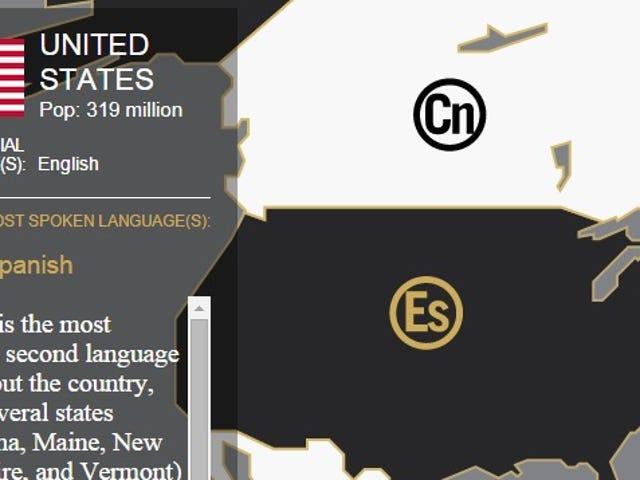 Lihat Bahasa-Bahasa Lisan Terbanyak Dunia Kedua dengan Peta Interaktif Ini