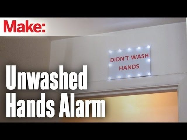 Shame Bathroom Slobs That Don't Wash Their Hands With This DIY Alarm