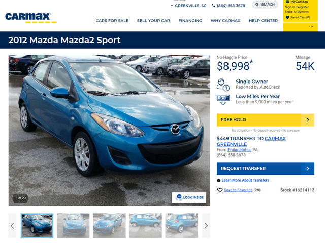 I know where Blue Mazda 2 is