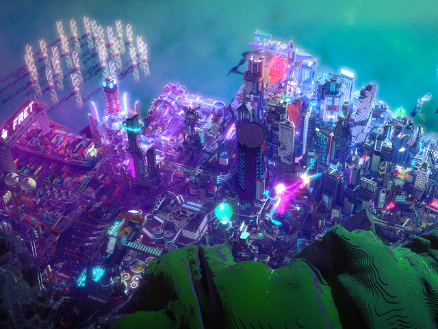 Minecraft Player Makes Futuristic Metropolis Inspired By Cyberpunk 2077