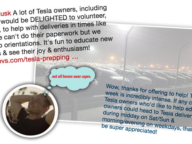 Chủ nghĩa anh hùng hàng ngày: Người hâm mộ đang tình nguyện giúp chủ sở hữu công ty xe hơi tỷ phú giao xe của mình