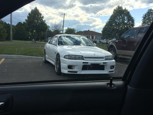 I seen a car.