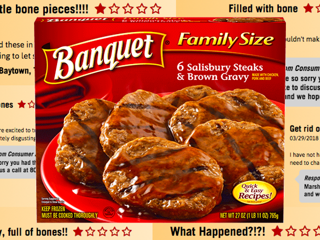 Online Reviewers Agree: Recalled 'Bone Contaminated' Microwaveable Steaks Are Bony as Hell