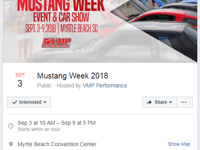Oh no...Mustang Week at Myrtle Beach has begun!