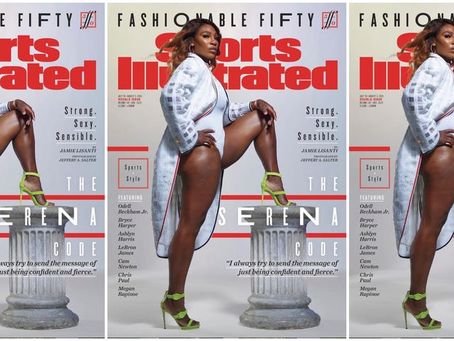 Serena Williams en tête de la 4e édition de Sports Illustrated Fashionable 50