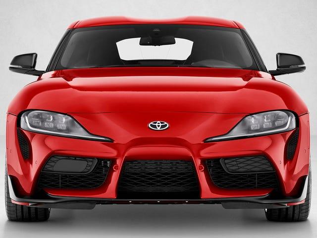 Här är det du väntas lägga på frontplattan på en Toyota Toyota Supra