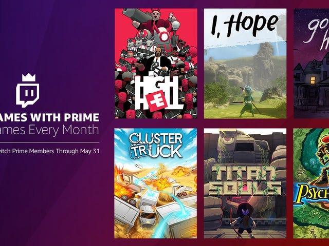 Członkowie Amazon Prime otrzymują sześć gier komputerowych za darmo w następnym miesiącu