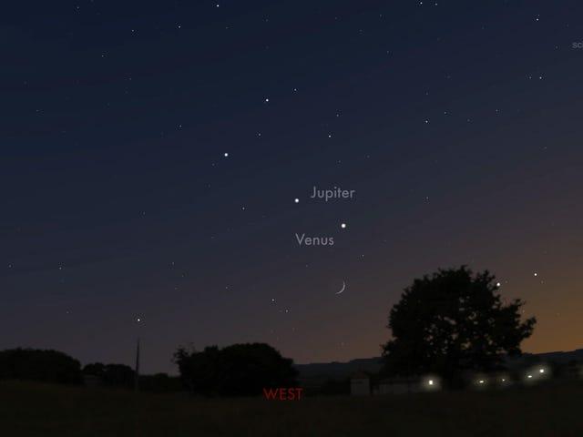 Bu Gece Venüs ve Jüpiter 24 Yıl İçinde Olduklarından Yakın Olacak