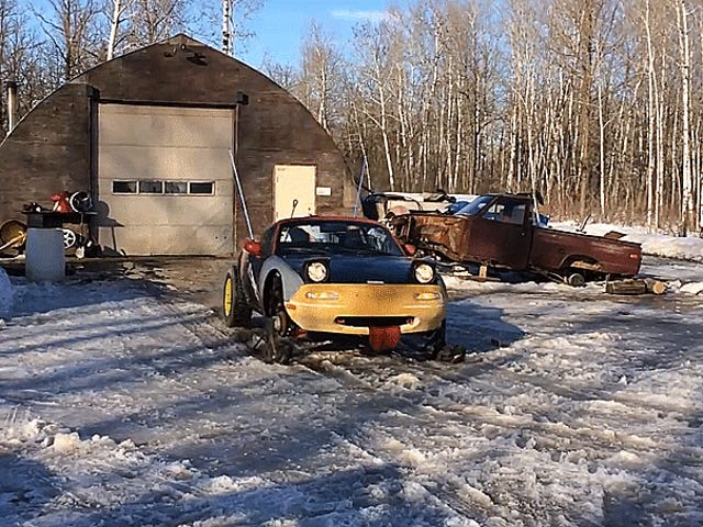 This Unholy Child Of A Miata And A Snowmobile Is Your New Winter King