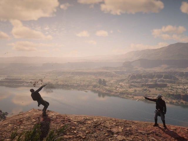 El jugador de Red Dead secuestra a los sheriffs y los dispara en hermosos lugares