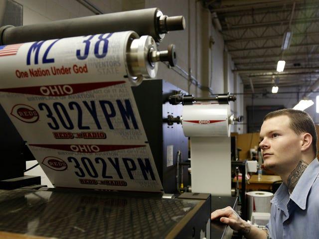 Ohio's Long Battle Over Front-lisensplater er ikke over ennå