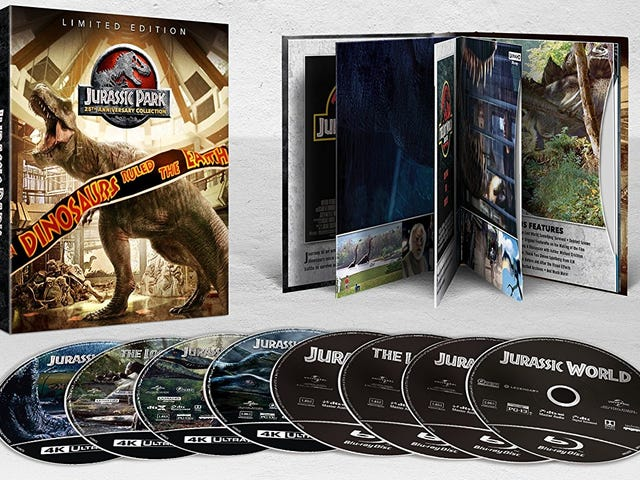 Hatch 4K Copies Of All the Jurassic Park Movies For $50