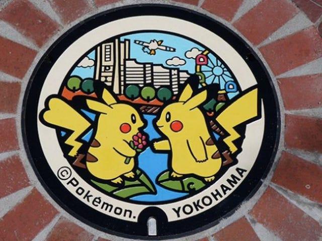 Pokémon Manholes Installed Across Japan