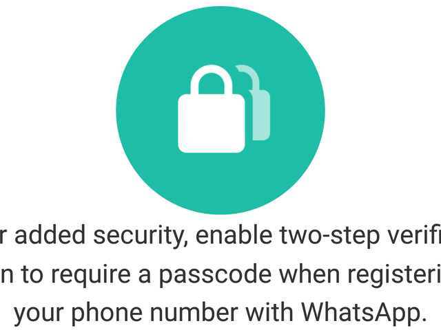 WhatsApp Supports Two-Step Authentication, So Enable It Now