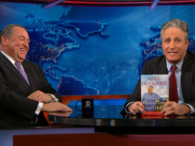 Watch Jon Stewart Crush Mike Huckabee's Idiotic Anti-Beyoncé Argument
