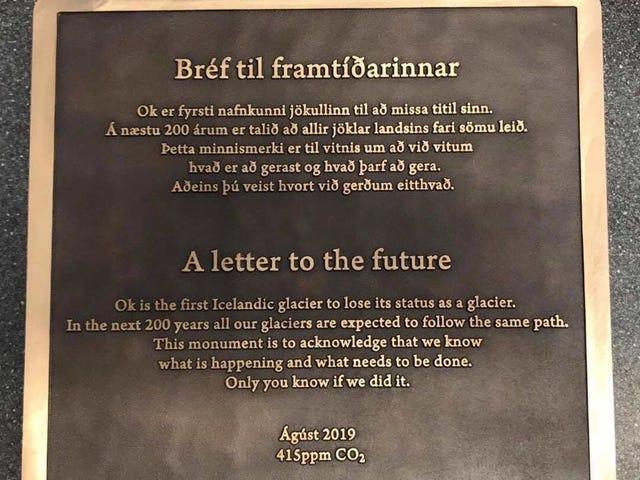 Colocarán un escalofriante mensaje para el futuro donde estaba el primer glaciar extinto de Islandia