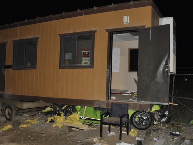 Suspected Drunk Driver Wedges A Lamborghini Gallardo Entirely Underneath A Construction Trailer