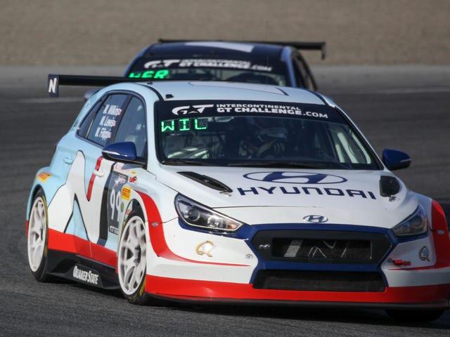 ヒュンダイは最近、ブライアン・ヘルタ・オートスポーツのi30 NでラグナセカでTCRクラスWorld Challenge California 8 Hoursを受賞した。