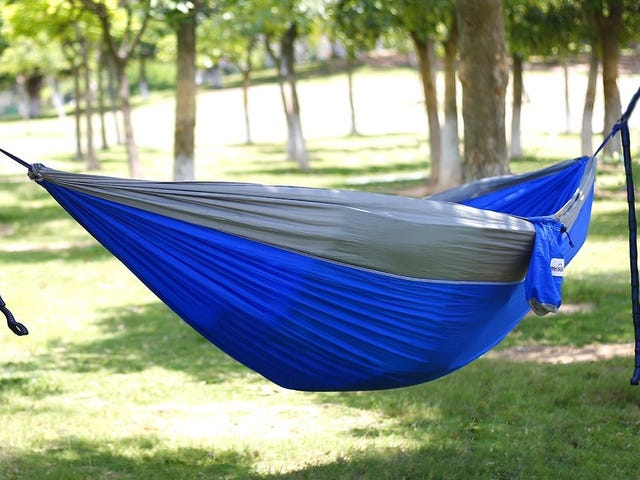Lounge in the Nice Fall Weather in This $22 Hammock