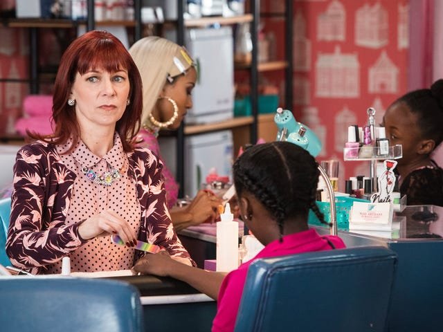 Playing twins on Claws gave Carrie Preston a new level of respect for Tatiana Maslany