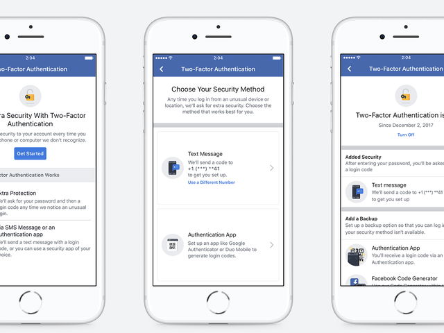 Facebook Just Made Two-Factor Authentication Easier to Set Up