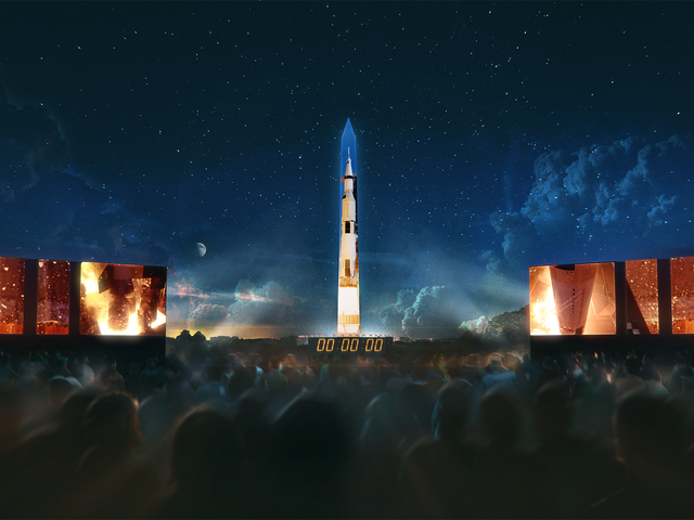 The Rocket That Took Humans to the Moon Will Be Projected on the Washington Monument Next Week