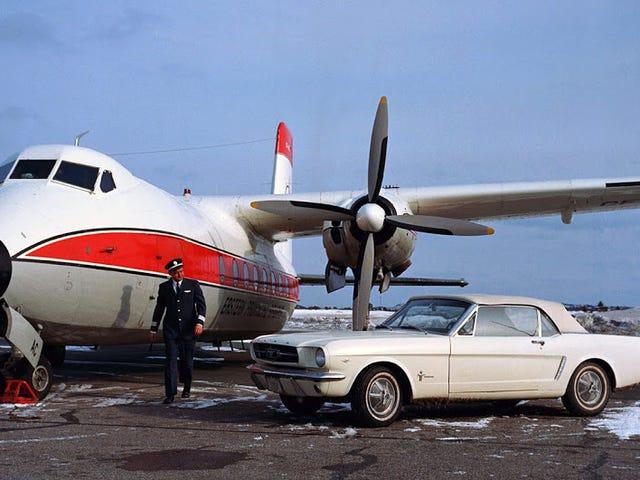 Captain Tucker's Mustang and His Handley Page Dart Herald