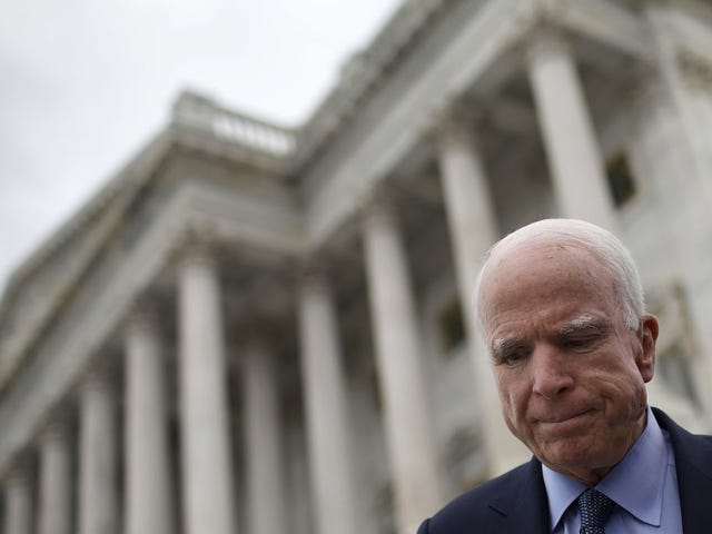 Stop Calling John McCain a Hero for Flying to DC to Kill Other People's Health Care