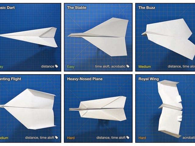 Con esta página ya nunca gânrás que pasar vergüenza cuando te pidan hacer un avión de papel