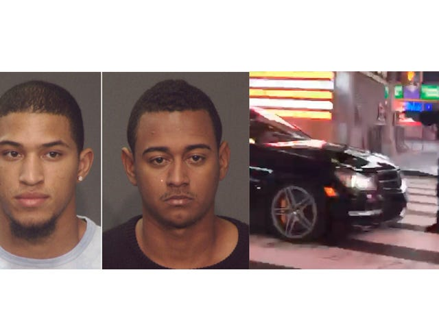 Two Suspects Arrested In Times Square Mercedes Burnout Incident That Injured Cop