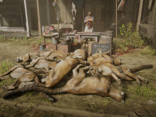 <i>Red Dead Online</i> 플레이어가 쿠거 수백 가지 복제