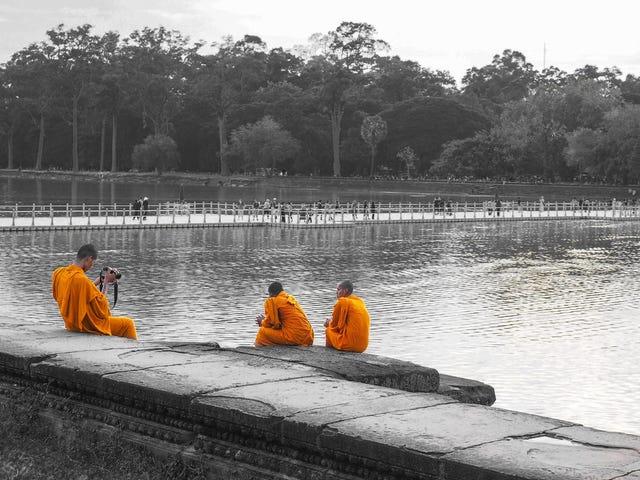 Taking Photos Near Angkor Wat