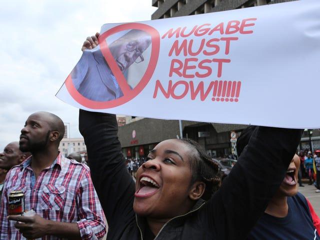 Thousands of Zimbabweans Take to the Streets, Telling Robert Mugabe and 'Gucci Grace' to Kick Rocks