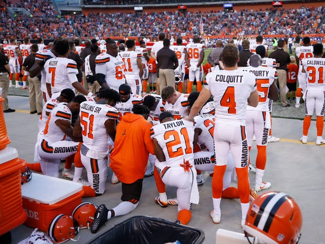 I'm Proud of My Husband for Kneeling During the Anthem, but Don't Make Him a White Savior