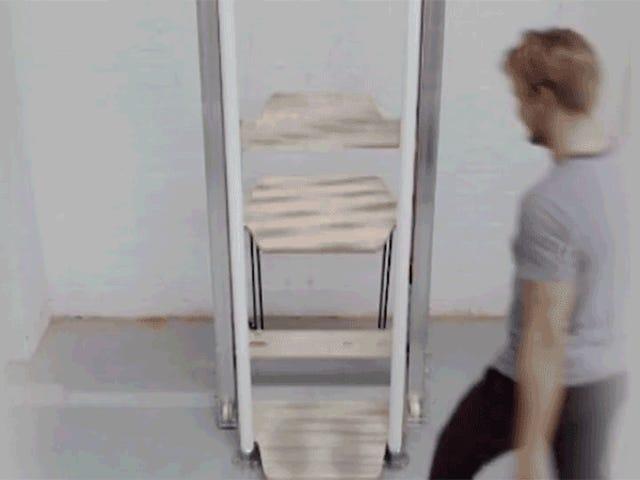 Αυτό το ανελκυστήρα με χειροκίνητο τρόπο θα αντικαταστήσει τις σκάλες μία ημέρα;