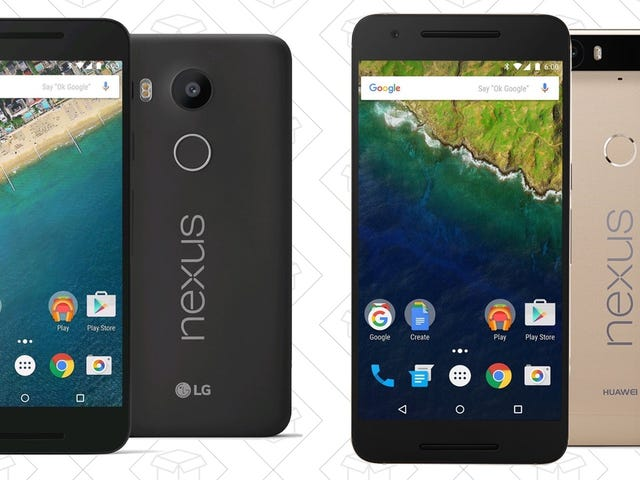 The Nexus 6P and 5X Are Incredibly Cheap Today