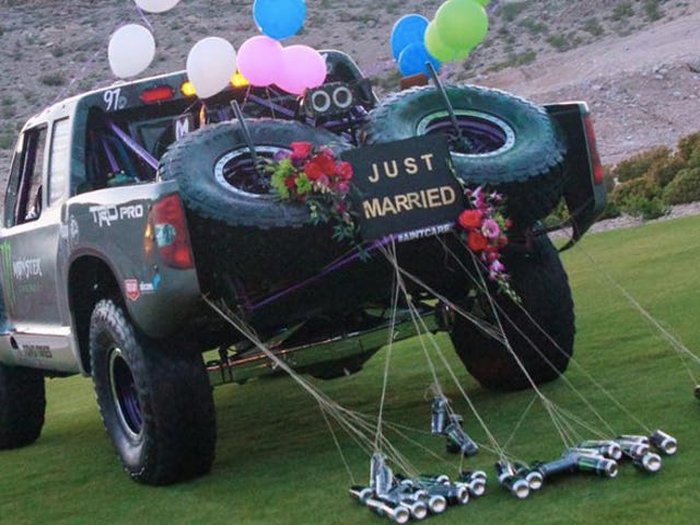 Forget A White Limo, This Is The Coolest Car To Leave Your Wedding In