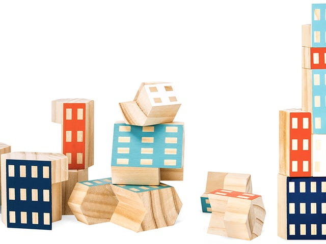 Irregular-Shaped Building Blocks Let Kids Build Ultra-Modern Skyscrapers