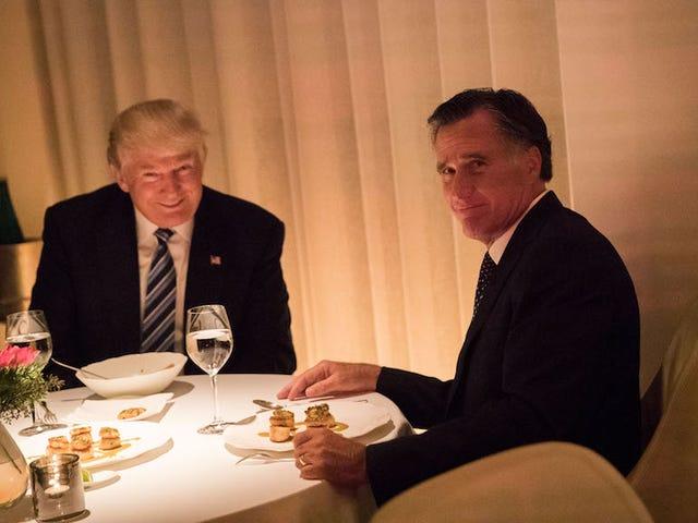 Mitt Romney aveva cena con Donald Trump e tutto è bello con loro ora