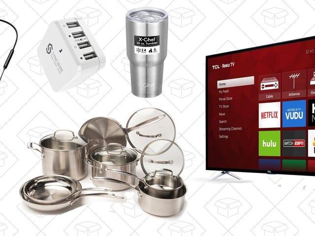 Лучшие предложения в четверг: посуда Cuisinart, 4K Roku TV, беспроводные наушники и многое другое