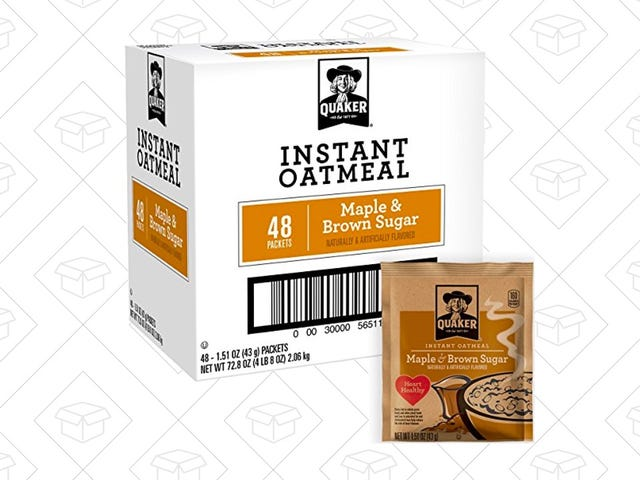 Clip the Coupon to Get 48 Packets of Quaker Oatmeal For $8