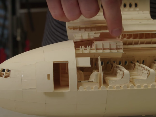 This Boeing 777 Model Is Made Out Of Paper