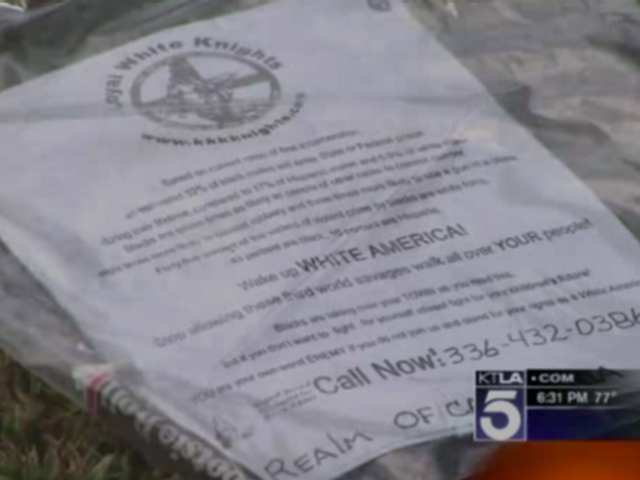 Calif. Residents Find KKK Fliers on Their Lawns