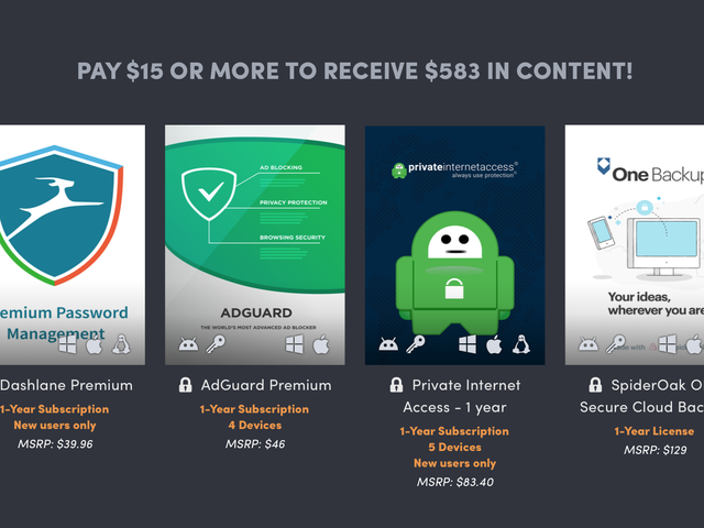Humble's Cyber Security Bundle Includes a Year of Dashlane and Private Internet Access For $15