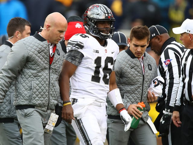 """Urban Meyer Says A """"Guy With A Camera"""" Injured J.T. Barrett's Knee During Pregame Warmups"""