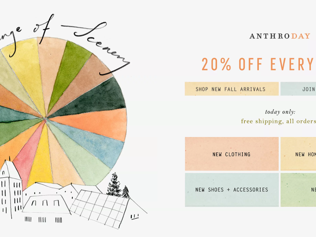 Anthropologie Is Taking 20% Off Everything, Seriously