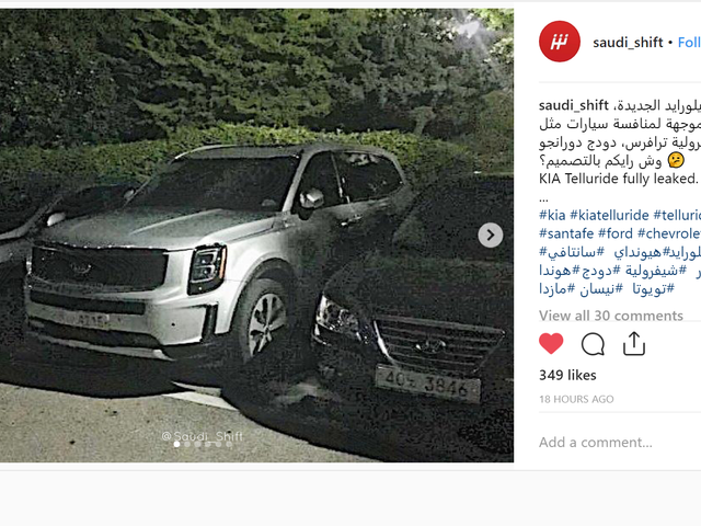 Here's the 2019 Kia Telluride Three-Row SUV Before You're Supposed to See It