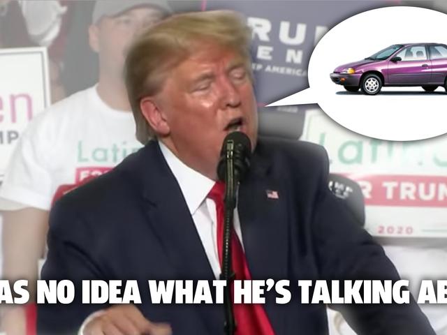 唐纳德·特朗普不知道汽车